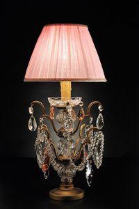 Art. 3850 P Cp, Lámpara de mesa con cristales de Bohemia