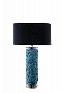 Art. LB301, Lámpara de mesa cilíndrica con adornos florales