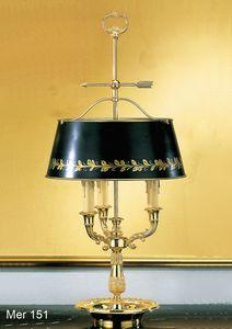 Art. MER 151, Lámpara de mesa realizada en latón bañado en oro de 24kt