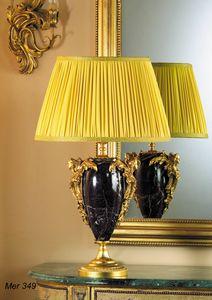 Art. MER 349, Lámpara de mesa en mármol y latón