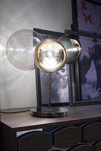 ATOMO, Lámpara de mesa de cristal con 3 luces