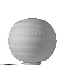 Braille CT144 2B INT, Lámpara de mesa, esférica, con decoraciones en relieve