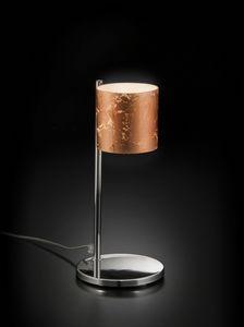 BRICK H 32, Lámpara de mesa con pantalla de vidrio decorado