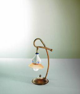 Campanella Vt188-038, Lámpara de vidrio y cerámica con diseño tradicional