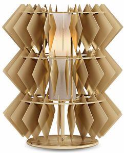 Diamante new lámpara de mesa, Lámpara de mesa con colgantes rombo