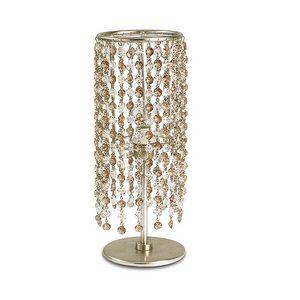 Gioia abat-jour, Lámpara de mesa en hierro, colgantes de cristal en 2 colores