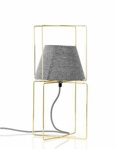 Kengo, Lámpara de mesa con pantalla de tela