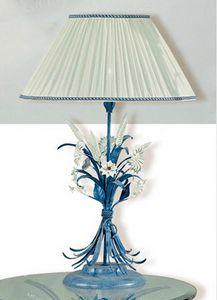 LG.4985/1, Lámpara de mesa decorada de hierro forjado