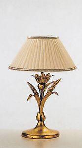 LP.5320/1/B, Lámpara de mesa con acabado en hoja de oro