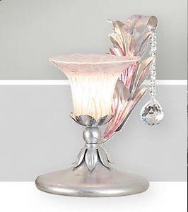 LP.7685/1/B, Lámpara de mesa en hierro forjado de colores
