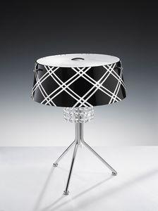 MEDUSA H 42, Lámpara de mesa con colgantes de cristal