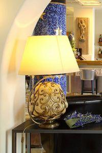 ORCIO HL1030TA-1GL, Lámpara de mesa con pantalla de tela