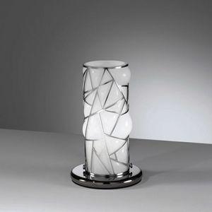 Orione Rt387-020, Lámpara de mesa con parrilla decorativa de metal
