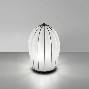 Salice Rt429-030, Lámpara de mesa en vidrio blanco, soplada a mano.