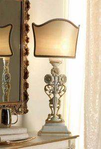 San Pietroburgo Art. ABA02/VSTI02/L43, Lámpara de mesa de estilo clásico con tallas