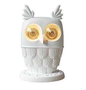 Ti.vedo CT105 1B INT, Lámpara de mesa de cerámica, en forma de búho