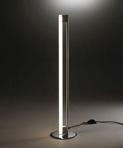 9, Lámpara de pie con neón blanco