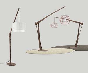 Archita lámpara de piso, Lámpara de pie de madera, ajustable y personalizable