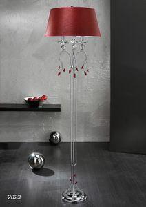 Art. 2023 Soiree, Lámpara de pie en latón cromado con decoraciones de cristal