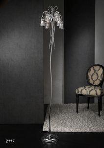 Art. 2117 Orion, Lámpara de pie con cristales de Swarovski