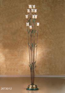 Art. 26730/12 Butterfly, Lámpara de pie en latón y vidrio