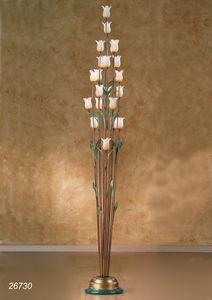 Art. 26730 Butterfly, Lámpara de pie con flores decorativas en cristal de Murano