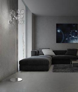 ATOM H 180, Lámpara de tierra con bolas de cristal