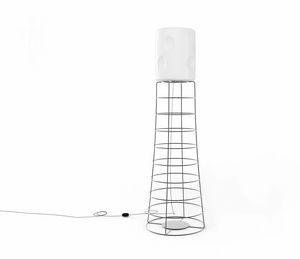ET, Lámpara de varilla de hierro, pantalla de plástico