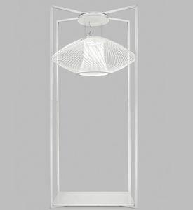 IMPOSSIBLE A H220, Lámpara de suelo con base de mármol de Carrara