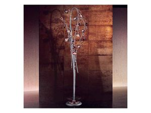 Melograno de pie, Lámpara de pie clásica con elementos crujido de cristal esférica