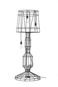 Sisma HP112, Lámpara de pie en barra de metal, con tres luces