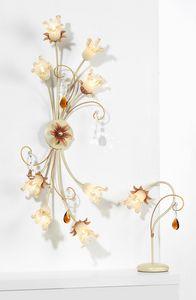 10208, Lámpara de techo con cristal de Murano