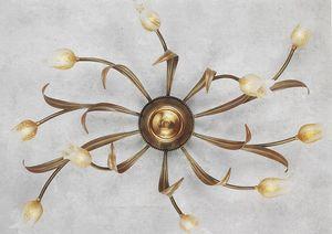 744010, Lámpara de techo con difusores en forma de flor