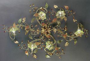 95206, Lámpara de techo con difusores de vidrio