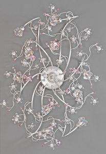 988010, Lámpara de techo con flores de cristal