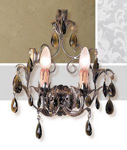A.6665/2, Lámpara de pared con acabados en hoja de plata