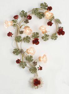 A.7585/6, Lámpara de pared con 6 luces en estilo florentino