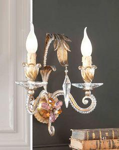 A.8130/2, Lámpara de pared con cristales de Swarovski