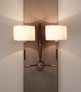 AMMOS HL1006WA-2, Lámpara de pared en cuero con pantallas de lámparas