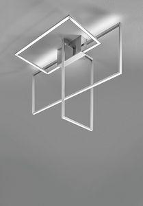 Area, Lámpara de techo con diseño geométrico.