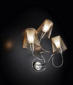 ARIA L 40, Lámpara de pared con 3 pantallas de cristal
