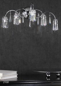 Art. 2100 Orion, Lámpara de pared con colgantes en cristal de Swarovski