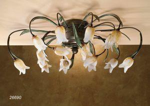 Art. 26690 Butterfly, Lámpara de techo artesanal con diseño clásico