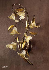 Art. 29830 Jolie, Lámpara de pared en latón y vidrio soplado