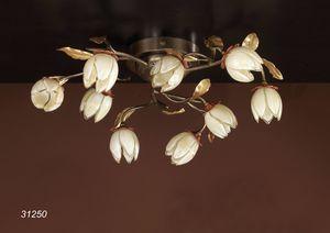 Art. 31250 Fior di Loto, Lámpara de techo con adornos de cristal de Murano