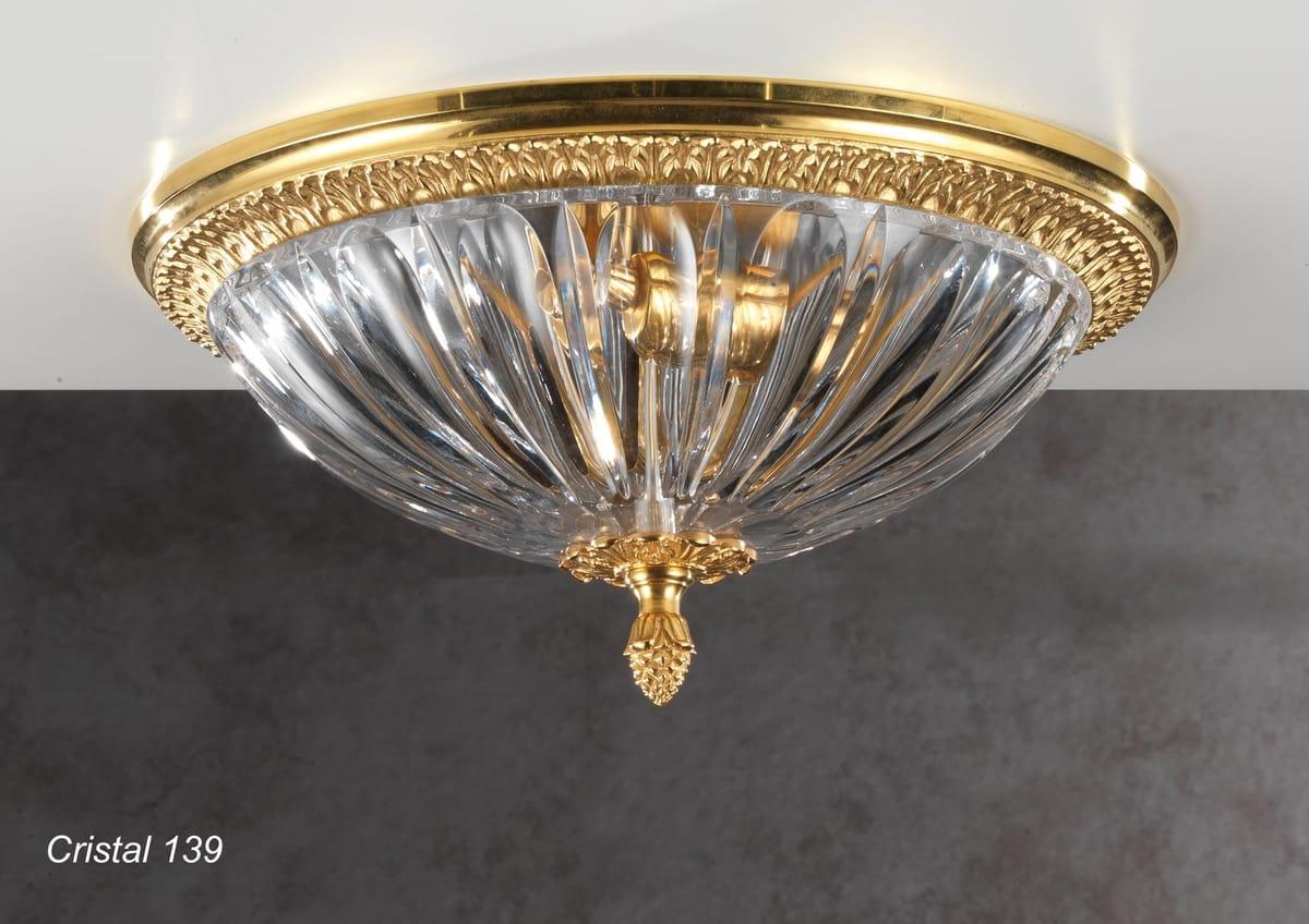 lámpara de techo con tazón de cristal cortado | idfdesign
