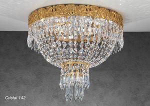 Art. CRISTAL 142, Luces de techo lujosas con colgantes de cristal