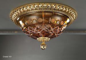 Art. CRISTAL 151, Luz de techo con cristal de ámbar