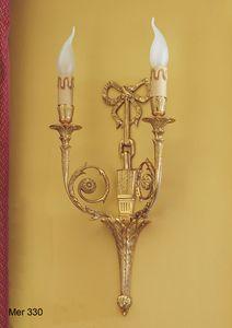 Art. MER 330, Lámpara de pared realizada en latón chapado en oro
