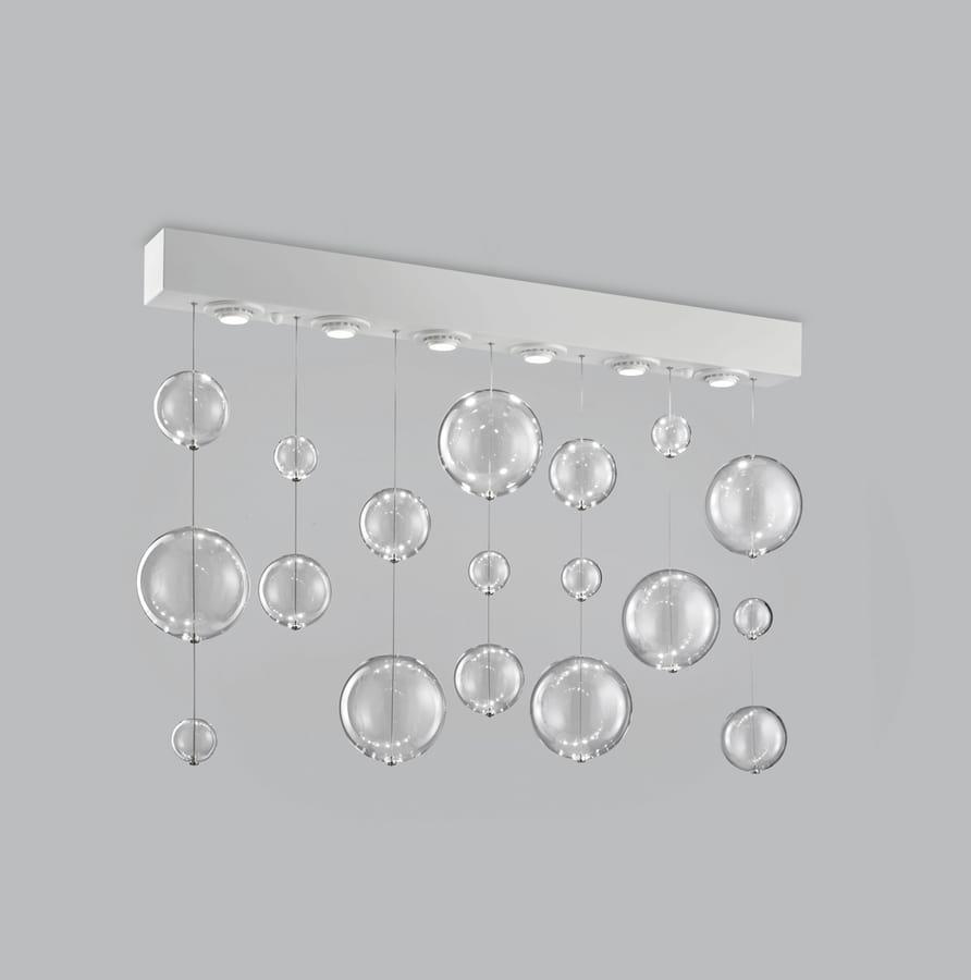 vidrio Lámpara con soplado rectangular de de techo esferas eWEIYH9D2